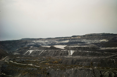 Chattisgarh, India, February 2015:   View of Kusumunda coal field in Korba.   Photographs for a story on land allocation for coal mines in Chattisgarh.  Modi's new government in the centre has relaxed the environmental regulations so the land can be allocated to both public and private sector companies easily.   Photo by Sami Siva for Al Jazeera America.