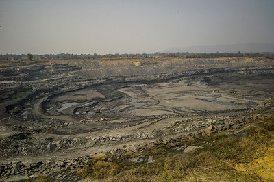 Chattisgarh, India, February 2015:   View of South Eastern CoalFields limited in Raigarh district.   Photographs for a story on land allocation for coal mines in Chattisgarh.  Modi's new government in the centre has relaxed the environmental regulations so the land can be allocated to both public and private sector companies easily.   Photo by Sami Siva for Al Jazeera America.