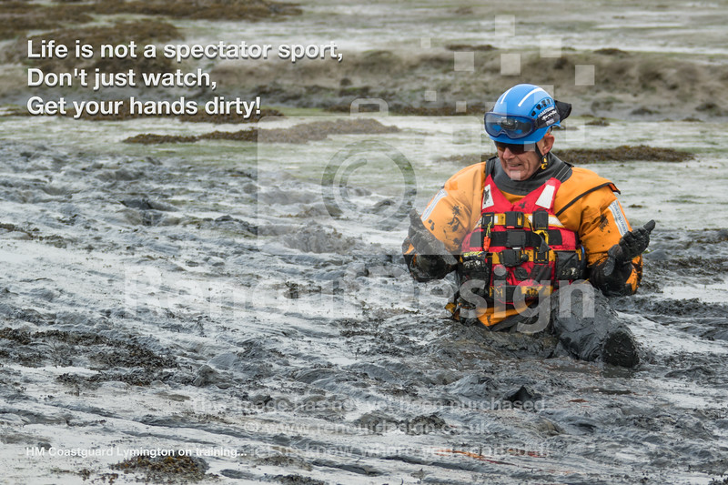 13 - HM Coastguard Lymington - Mud Training