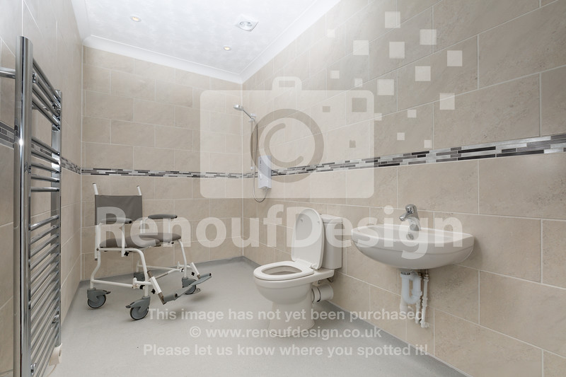 Accessible bathroom - refurbished for wheelchair accessibility in Lymington