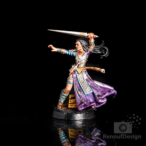13 - 3D printed and hand painted fantasy 28mm scale minature