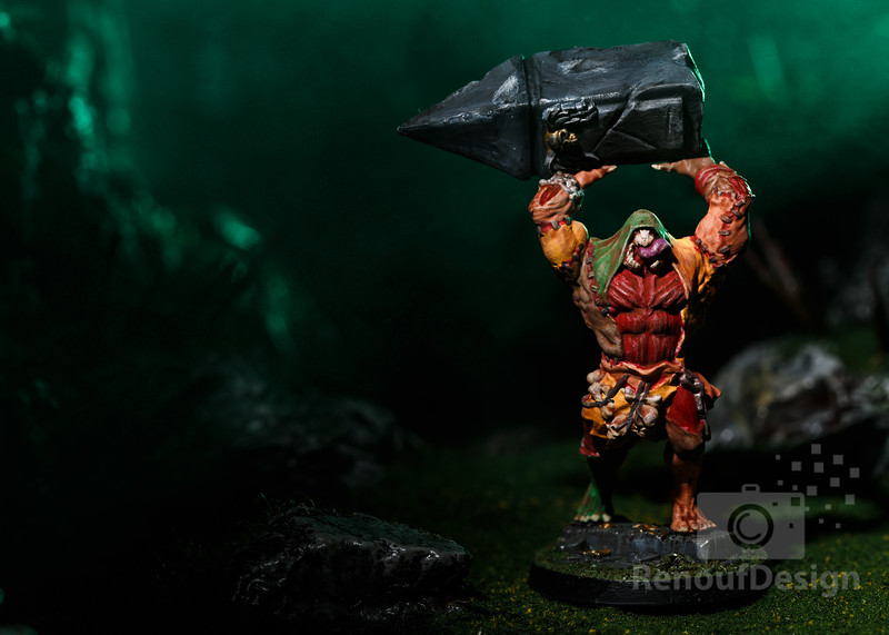 03 - 3D printed and hand painted fantasy 28mm scale minature