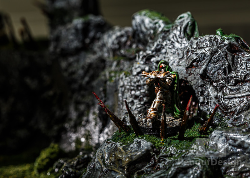 08 - 3D printed and hand painted fantasy 28mm scale minature