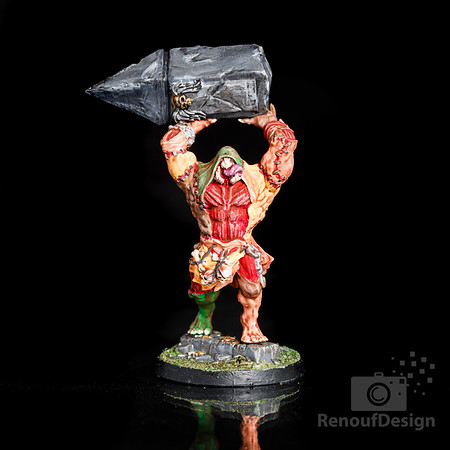 02 - 3D printed and hand painted fantasy 28mm scale minature