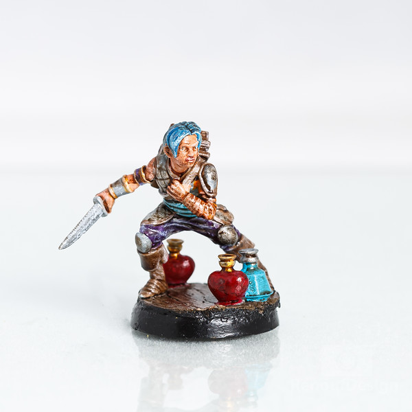 15 - 3D printed and hand painted fantasy 28mm scale minature