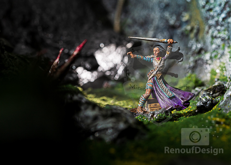 14 - 3D printed and hand painted fantasy 28mm scale minature
