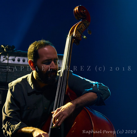 2019 TSF Jazz show in Salle Pleyel, Paris Double bass Jorge Roeder supporting Shai Maestro