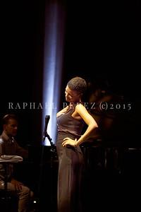 Agathe Iracema jazz quartet show on Sep 29, 2020 in Theatre Goussainville near Paris.