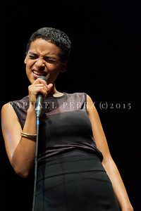 Agathe Iracema jazz quartet show on Sep 29, 2020 in Theatre Goussainville near Paris.