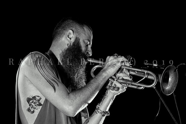 Trumpeter Avishai Cohen (tr) and  Big Vicious band in Paris. June 2019.