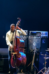 Dianne Reeves concert in Paris during Jazz à la Villette festival; September 2017. Double bass Reginald Veal.