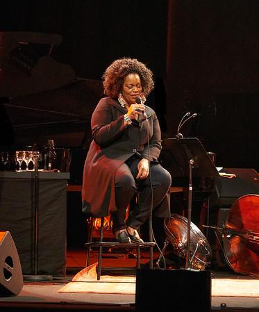 Dianne Reeves concert in Paris during Jazz à la Villette festival; September 2017