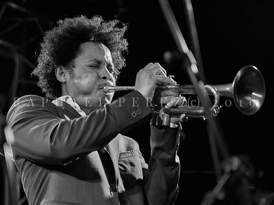 Cuban band El Comite show in Paris, New Morning. April 2019. Trumpet Carlos Sarduy