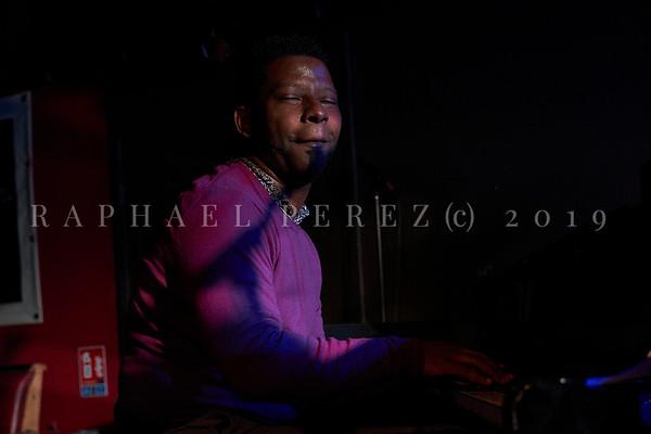 Cuban band El Comite show in Paris, New Morning. April 2019. Pianist Rolando Luna