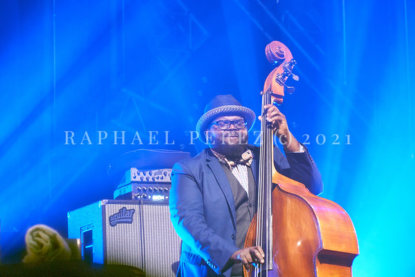 Gregory Porter concert during Jazz à la Villette in Paris. September 2017 Here double bassist, Jahmal Nichols