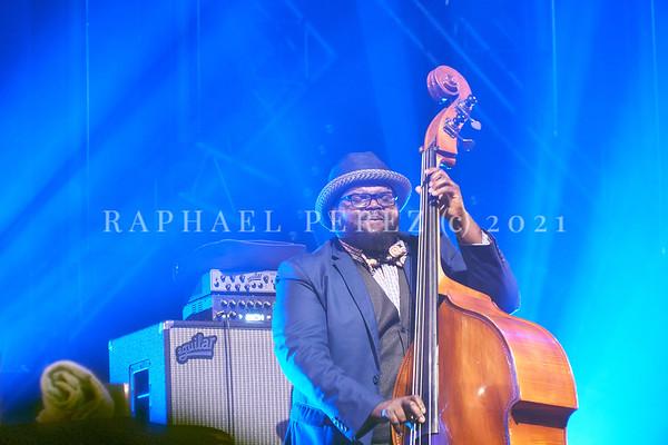 Gregory Porter concert during Jazz à la Villette in Paris. September 2017 Here double bassist, Jahmal Nichols