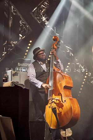 Gregory Porter concert during Jazz à la Villette in Paris. September 2017. Double bassist Jahmal Nichols
