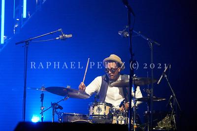 Gregory Porter concert during Jazz à la Villette in Paris. September 2017. On drums, Emanuel Harrold