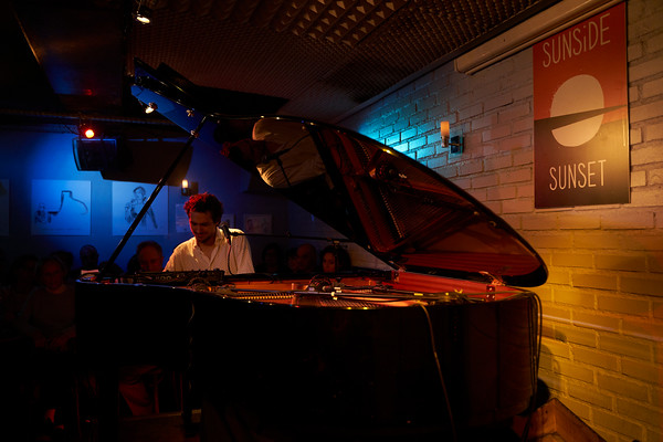 Pianist Guy Mintus show in Paris, Nov 2019, during Jazz and Klezmer Festival. At Sunset Sunside