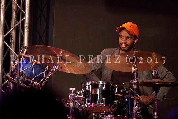 Jowee Omicil & Friends show in Paris, New Morning, october 2020. Arnaud Dolmen on drums.