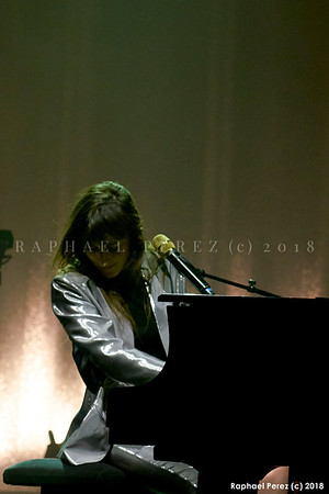 Juliette Armanet concert at Olympia Hall Paris. March 2018
