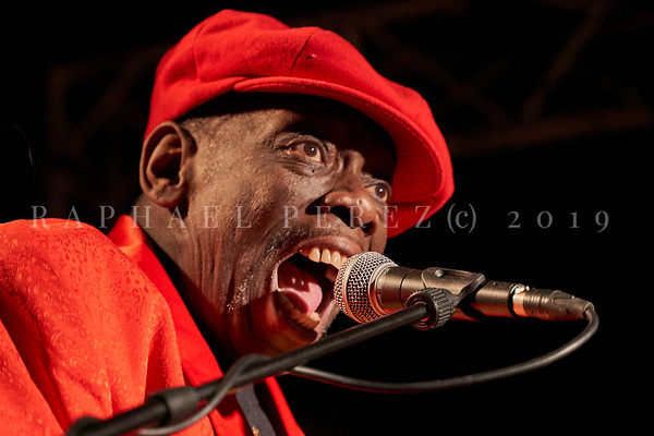 Bluesman Lucky Peterson concert in Paris New Morning on March 2019.