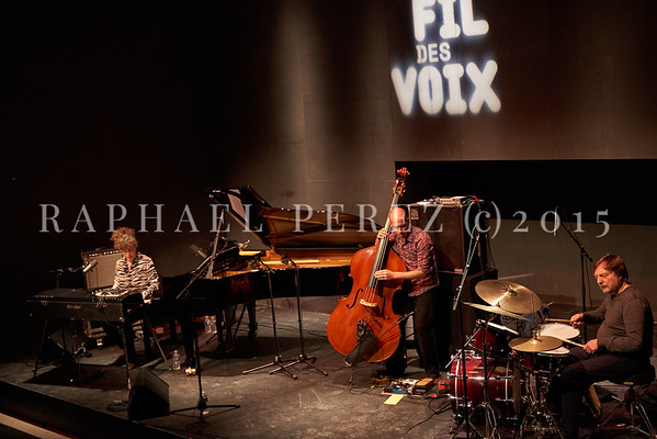"Macha Gharibian Trio presenting new album  ""Joy Ascension"" at 360 Paris Music Factory during Au Fil des Voix festival, Jan 2020. With double bass, Chris Jennings and drums, Dré Pallemaerts"