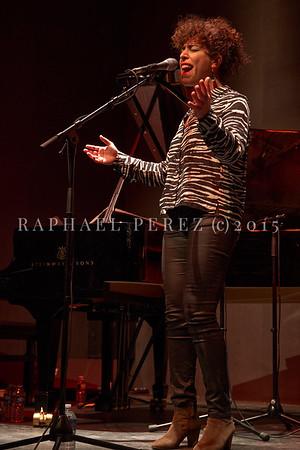 "Macha Gharibian Trio presenting new album  ""Joy Ascension"" at 360 Paris Music Factory during Au Fil des Voix festival, Jan 2020."