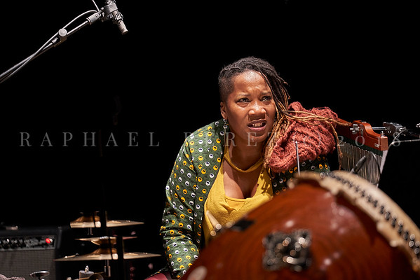 Nicole Mitchell and Black Earth ensemble, Sons d'Hiver Festival 2019 Jovia Armstrong on drums