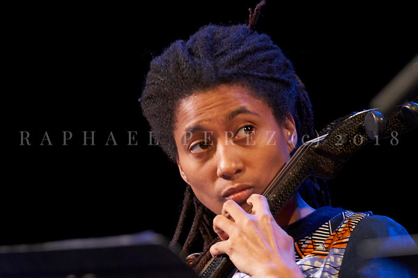 Nicole Mitchell and Black Earth ensemble, Sons d'Hiver Festival 2019 Tomeka Reid with cello