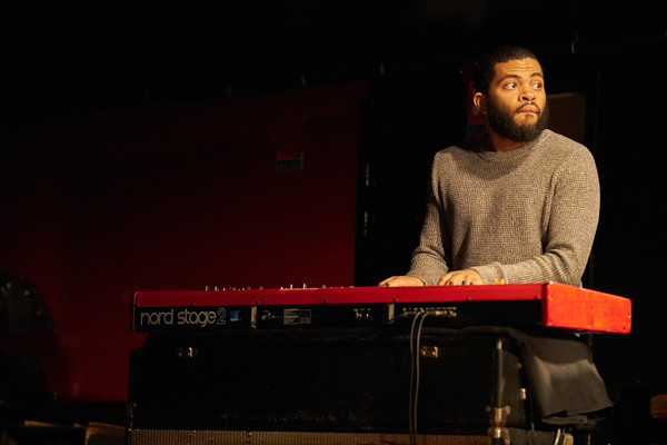 """Robin McKelle concert on May 2018 in New Morning Paris, presentating her 8th album """"Melodic Canvas"""". Here Mike King on keyboards."""