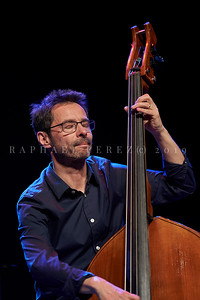 Stochelo Rosenberg Trio show in Paris. April 2019. Double Bass Diego Imbert