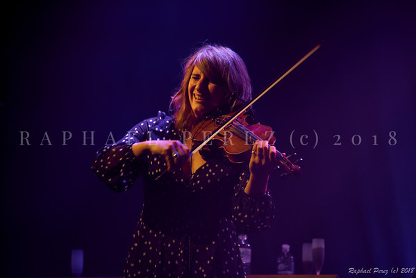 Thomas Dutronc and his Gipsy Jazz band. November 2018 Aurore Voilqué, violin