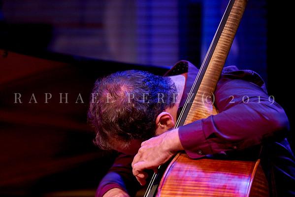 Uriel Herman trio show in Paris Club des Lombards on June 2019. Uriel Herman (piano), Ehud Ettun (double bass) and Haim Peskoff (drums).