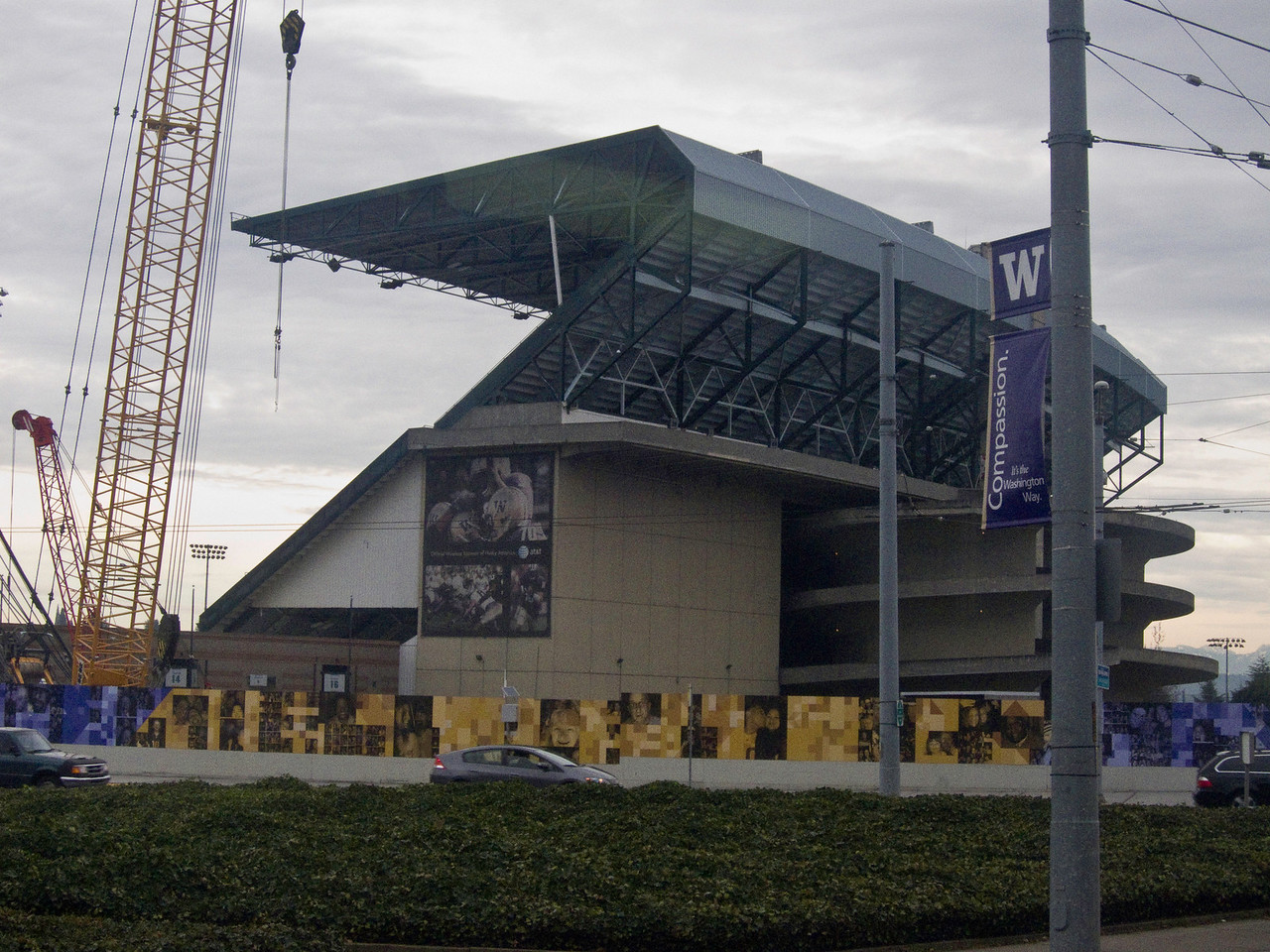 The old Husky stadium. It is scheduled to be demolished and replaced.