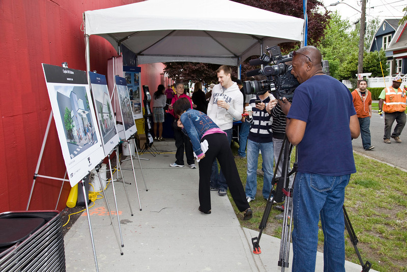 KIRO TV had a news crew at the open house.