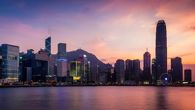 Purple sky / Central, Hong Kong