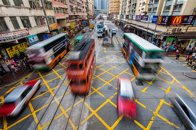 In motion / Quarry Bay, Hong Kong
