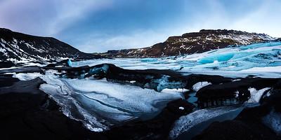 Ice panorama / Solheimajokull, Iceland