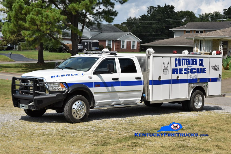 Crittenden County Rescue Squad Rescue 1<br /> x-Frankfort, KY <br /> 2012 Dodge Ram 5500 4x4/1997 Central States<br /> Greg Stapleton photo