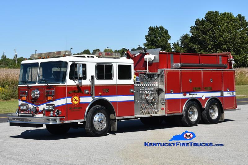 Crittenden County Engine 1185<br /> x-Frederick, MD, Engine 4 <br /> 1992 Seagrave JE 1500/2250/40<br /> Greg Stapleton photo