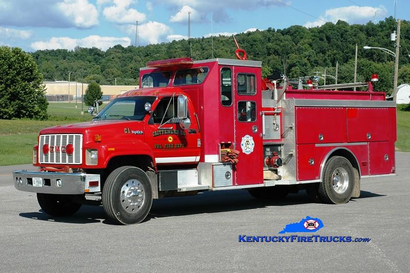 <center> RETIRED <br> Crittenden County  Engine 1 <br> 1991 GMC TopKick/Smeal 1000/1000 <br> Greg Stapleton photo <br> </center>