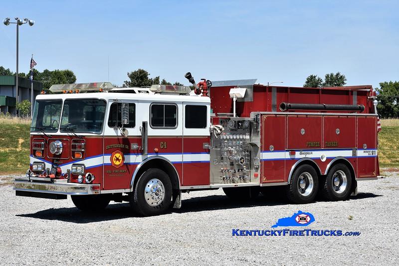 REASSIGNED <br /> Crittenden County  Engine 4<br /> x-Frederick MD<br /> 1992 Seagrave JE 1500/2250/40<br /> Greg Stapleton photo