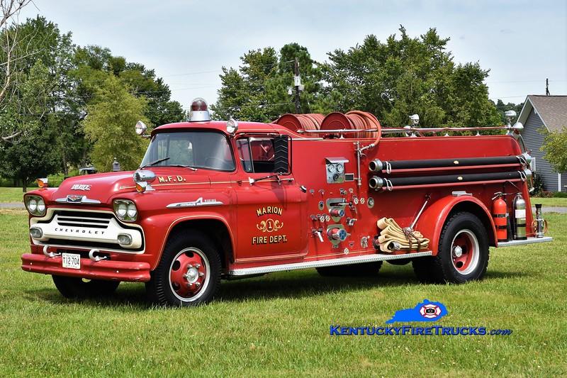RETIRED & PRIVATELY OWNED <br /> Marion  Engine 1<br /> 1958 Chevy Viking/Howe 500/500<br /> Greg Stapleton photo