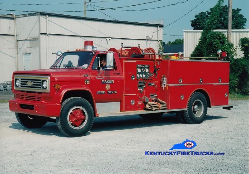 <center> Marion  Engine 3 <br> 1977 Chevy C65/Boyer 750/750 <br> Greg Stapleton photo <br> </center>