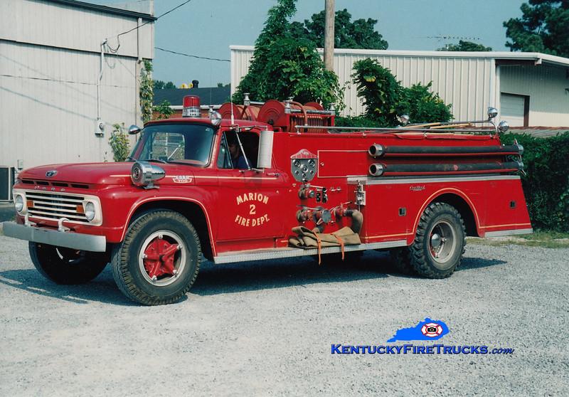 <center> Marion  Engine 2 <br> 1963 Ford F-700/Central-St. Louis 750/500 <br> Greg Stapleton photo <br> </center>