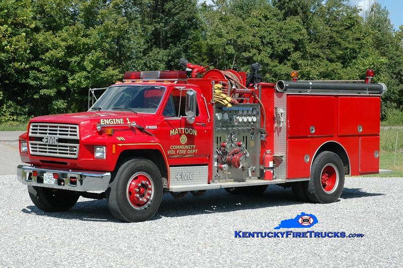 <center> Marion  Engine 1 <br> 1998 Ford F-800/FMC 1250/1000 <br> Greg Stapleton photo <br> </center>