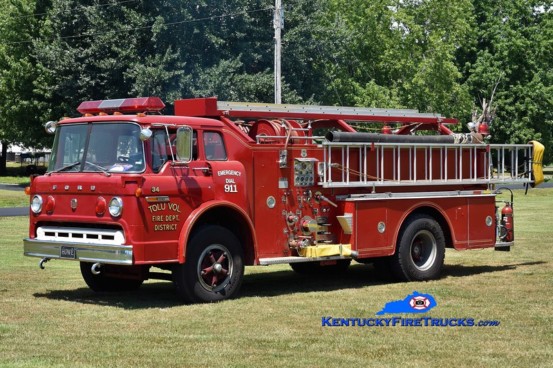 Tolu  Engine 34<br /> x-Reidland-Farley, KY<br /> 1974 Ford C-900/Howe 1000/500<br /> Greg Stapleton photo