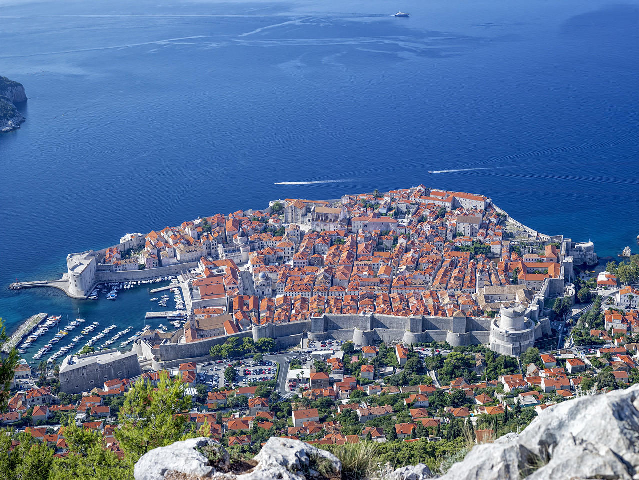 Dubrovnik, Croatia (from above)