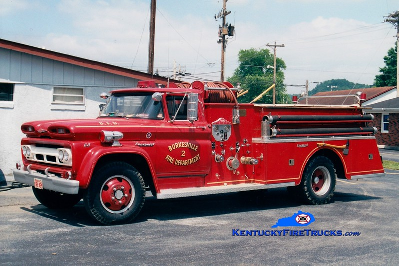 <center> Burkesville  Engine 2 <br> 1960 Chevy C60/Central 500/500 <br> Greg Stapleton photo </center>